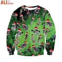 CREDO nella Natale Bad Babbo Natale Women/'s Sweater Maglione \