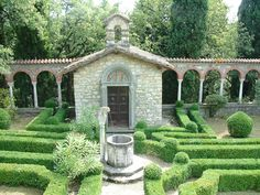 Formal Italian Garden with Partarre hedges