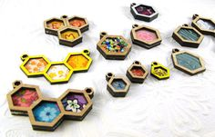 Make your own Hexagon pendant in bamboo one inch by Beadeux