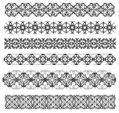 異なるデザインのスタイルで装飾的な罫線のコレクション — ストックイラストレーション #34243571