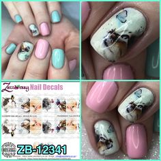 Cats and Butterflies Water slide Nail Decals to be applied to a white base Please contact us if you are unsure about the sizing options, we will NOT exchange if you purchase the incorrect size. Nail Decals, Projects To Try, Butterfly, Nail Art, Nails, Design, Finger Nails, Ongles, Nail