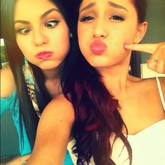 Ariana Grande & Victoria Justice. Well rumors are acourring that they still have the feud going on I hope their show will come back and that they will be friends once and for all again