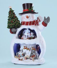 Snowman Music Box from The Holiday Barn