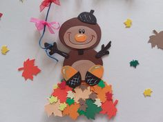 Let kites fly in the fall! What fun! Window picture made of cardboard lovingly designed, worked on both sides and accentuated Ca 25 cm 2 . Pumpkin Crafts, Fall Crafts, Diy And Crafts, Kite Flying, Autumn Art, Laura Lee, Autumn Inspiration, Projects To Try, Clip Art