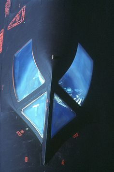 "Pilot in the cockpit of a SR-71 ""Blackbird via http://www.defenseimagery.mil"