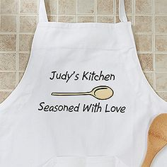 For Her: The Chef - A Personalized Apron. Thoughtful gifts are the best :)