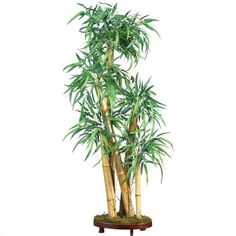 "Nearly Natural 42"""" Chinese Style Bamboo Silk Tree (€110) ❤ liked on Polyvore featuring home, home decor, floral decor, leaf tree, silk bamboo trees, tree home decor, tree planter and chinese planters"