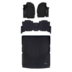 SMARTLINER Custom Fit Floor Mats 2nd Row Liner Black for 2016-2020 Kia Sorento All Models