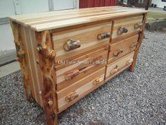 Aspen Log 6 Drawer Dresser  Old Farm Amish Furniture - Dayton, PA (814) 257-8911 oldfarmfurniture@aol.com Visit our Facebook Page