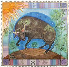 Taurus by Jane Ray, April 21 - May 21 Taurus Art, Sun In Taurus, Astrology Taurus, Taurus Love, Taurus Woman, Zodiac Taurus, Astrology Signs, Libra, Jupiter In Aquarius