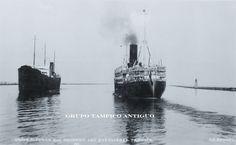 Barco de vapor Alfonso XIII en las escolleras