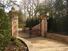 brick entrance gates - Google Search