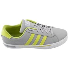 huge discount 8bdb3 a09c4 Daily Vulc II Men s Shoe in Grey and Yellow comes in a classic sneaker  design and is part of the adidas Neo range of casual shoe.