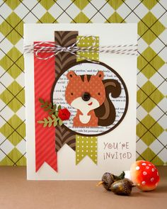 cricut create a critter cartridge Bunches and Bits: Woodland Party Invitation