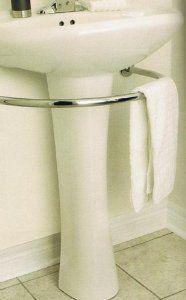 Amazon.com: PEDESTAL sink TOWEL BAR rack bath BATHROOM hardware: Home & Kitchen