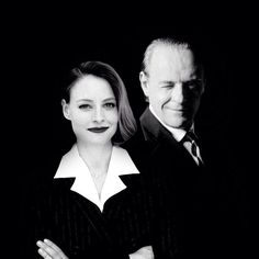 """You're very frank, Clarice. I think it would be quite something to know you in private life."" Jodie Foster and Anthony Hopkins"