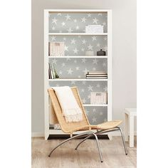 """<br/><b>Features:</b><br/><ul><li>Vinyl</li><li>This peel and stick wallpaper is a twinkling collection of unique stars.</li><li>In a pale grey color, this design is perfect for a gender neutral nursery.</li><li>Safe For Walls</li><li>Orders are dispatched directly to you from the USA</li></ul><b>Measurements:</b> 548.6 x 52.1 x 0.3 cm<br /><br /><a href=""""http://c2.mysalec.com/sizechart/Size_Chart_CM_to_Inches_updated.pdf"""" target=""""_blank"""" class=""""textLinkTopBottom"""">Size Guide Conversion…"""