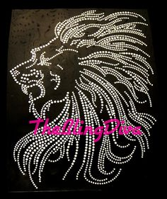Hey, I found this really awesome Etsy listing at https://www.etsy.com/listing/101462903/large-lion-iron-on-rhinestone-transfer