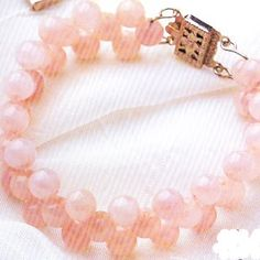 Pink Shell Pearl Bracelet Using Double Threads