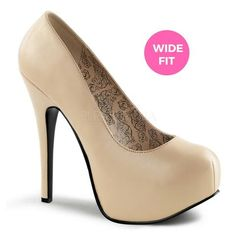 Pleaser Shoes Pink Label are for anybody with a foot size up to women's This collection features both demure and bold shoes and boots. We have high heels for large and wide feet, as well as flats and mid heels. Wide Feet, Peep Toe, High Heels, Label, Feminine, Footwear, Cream, Boots, Pink