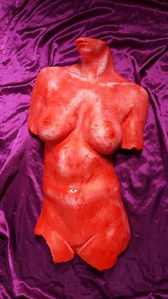 Sculpture -  Red Brust . - casting a bust. Act nudity one original. | eBay