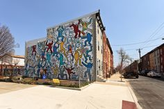 "Restoration of a Keith Haring mural in a South Philadelphia neighborhood that Keith installed in 1987. Titled, ""We The Youth""."
