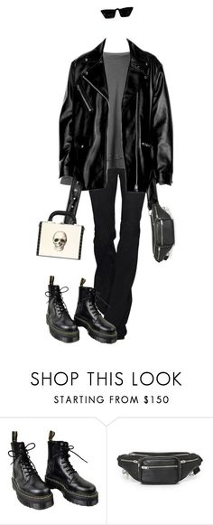 """Untitled #4478"" by kimberlythestylist ❤ liked on Polyvore featuring Haider Ackermann, Dr. Martens, Alexander Wang and Bertoni"