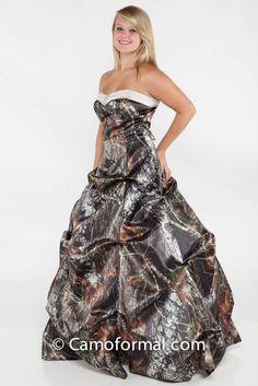 Mossy Oak Wedding Dresses | 3771 Gabby - Aline, Pickup Dress with Sweetheart Band and Rhinestone ...
