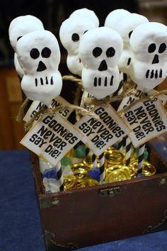 marshmallow skulls for goonies party!