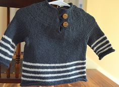 Striped Button-Top Pullover, $5, sizes 6 months to 4T