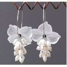Flower bead earrings  Earring stud  Chandelier alloy jewelry., earring