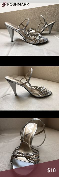 NWOT Nina heels Never worn, silver and gold heels Nina Shoes Heels