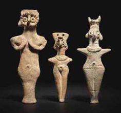 three_syrian_terracotta_idols_circa_2nd_millennium_bc
