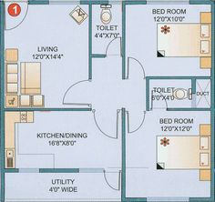 3 bedroom vastu house plans google search casita for Bathroom designs according to vastu
