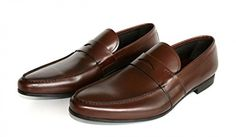 Prada Men's 2DC007 Brown Leather Business Shoes EU 11 (45) / US 12