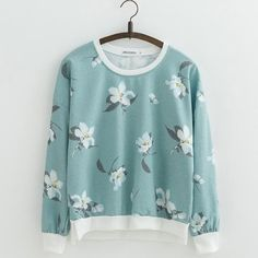 Cheap sweatshirt for woman, Buy Quality printed sweatshirt directly from China sweatshirt sweatshirt Suppliers: JKKUCOCO Hot sell Orchid Flowers Print Sweatshirts for Women sweatshirt Loose Cotton Hoodies O-neck Pullovers Female 22 Color Printed Sweatshirts, Cotton Hoodies, Cotton Polyester Fabric, Pull, Orchid Flowers, Fashion Outfits, Fashion Clothes, Clothes For Women, Batwing Sleeve
