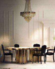 FORTUNA Dining Table by BOCA DO LOBO | | Interior design trends for 2015 #interiordesignideas #trendsdesign