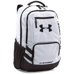 Under Armour White-Black Team Hustle Backpack (€49) ❤ liked on Polyvore featuring bags, backpacks, rucksack bags, knapsack bag, black and white backpack, under armour and day pack backpack