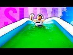 SLIME POOL CHALLENGE! - YouTube Diy Pokemon Cards, Swing Table, Guava Juice, Lego Pictures, Backyard For Kids, Outdoor Fun, Diy Party, Slime, Challenges