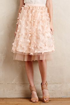 for when i take my daughter to the ballet this year (two shoes already planned!) Fluttered Fete Midi Skirt #anthropologie