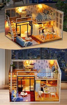 Com sims house, tiny house design, tiny house living, heim, mezza Layouts Casa, House Layouts, Wooden Dolls House Furniture, Dollhouse Furniture, Dollhouse Interiors, Dream Furniture, Miniature Furniture, Wooden Dollhouse, Diy Dollhouse