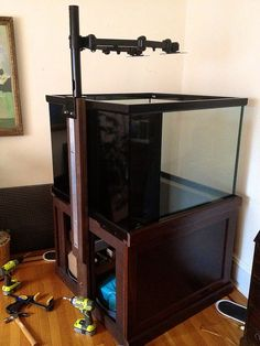 Rimless tank owners, how did you mount lights and a lid? - Reef Central Online Community