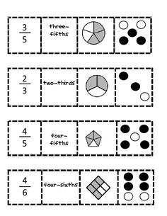 fraction match up game