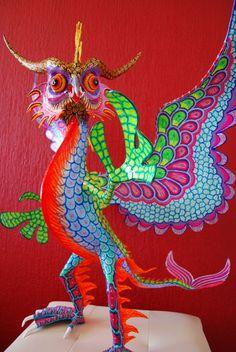 original Piece of art Made by Miguel Linares son of Pedro Linares creator of the Alebrijes.