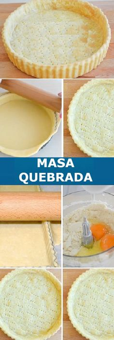 quebrada básica para tartas dulces o saladas Masa quebrada básica para tartas dulces o saladasMasa quebrada básica para tartas dulces o saladas Mexican Food Recipes, Sweet Recipes, Dessert Recipes, Pie Crust Recipes, Pan Dulce, Dessert Bread, Food Humor, Savoury Cake, Quiches