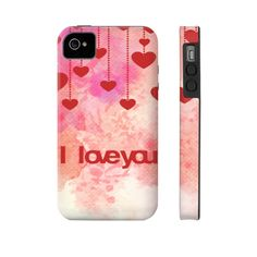 I Love You Hearts iPhone Case