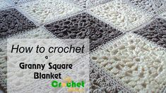 How to crochet a granny square blanket - Free crochet pattens - YouTube