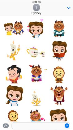 ‎Disney Stickers: Beauty and the Beast on the App Store Anime Disney Princess, Disney Princess Drawings, Princess Art, Disney Art, Disney Pixar, Kawaii Disney, Cute Disney Drawings, Cute Drawings, Disney Babys