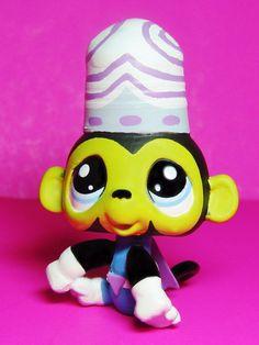 Littlest Pet Shop Powerpuff Girls MOJO JOJO Monkey OOAK Custom figure LPS CN #Hasbro