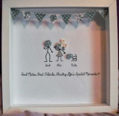My Palace of Alice ♣ Wall Art Crafts, Frame Crafts, Crafts To Do, Craft Frames, Personalised Gifts Diy, Personalized Buttons, Diy Gifts, Personalised Frames, Scrabble Tile Crafts